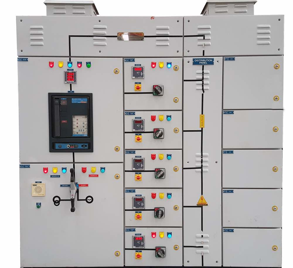 electrical distribution Board used in a steel plant to distribute electricity to various machine and departments