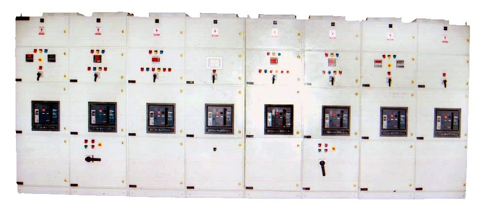 main LT panel with Automatic Powerfactor control and this panel is handling 3200 A, 4 DG of 1000 Kva each and 2 Nos of Transformers of capacity 1600 Kvaa each. It has inteligent AMF Control System.
